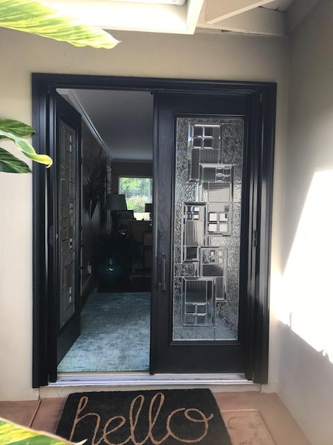 BLACK FRENCH ROLL AWAY SCREEN DOOR
