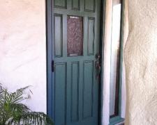 GREEN PATINA CUSTOM COLOR ROLL-AWAY RETRACTABLE SCREEN DOOR