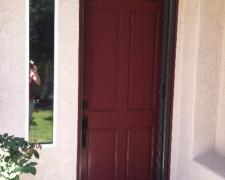 OVERSIZED BRONZE ROLL-AWAY RETRACTABLE SCREEN DOOR
