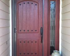 EXTRA WIDE BRONZE ROLL-AWAY RETRACTABLE SCREEN DOOR
