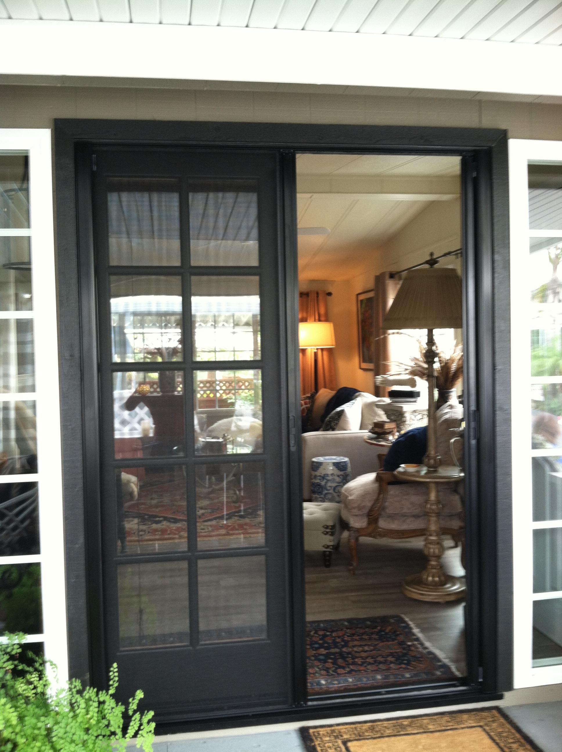 French door retractable screens lovely retractable for Hidden screens for french doors