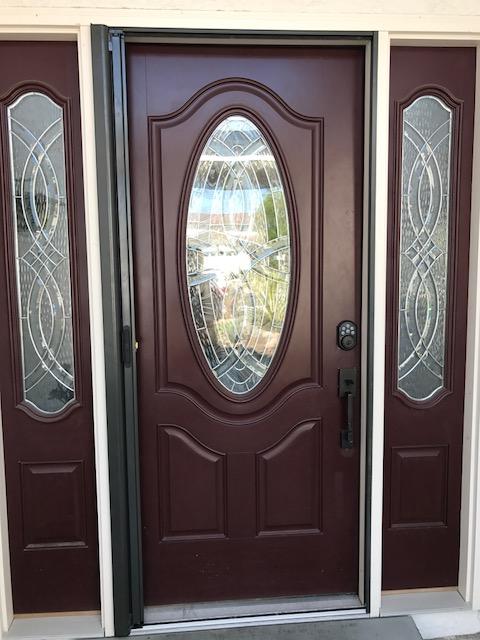 Disappearing door bronze roll away disappearing screen door for Roll away retractable screen doors