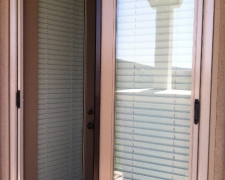 CHAMPAGNE BEIGE FRENCH DOUBLE ROLL-AWAY SCREEN DOOR