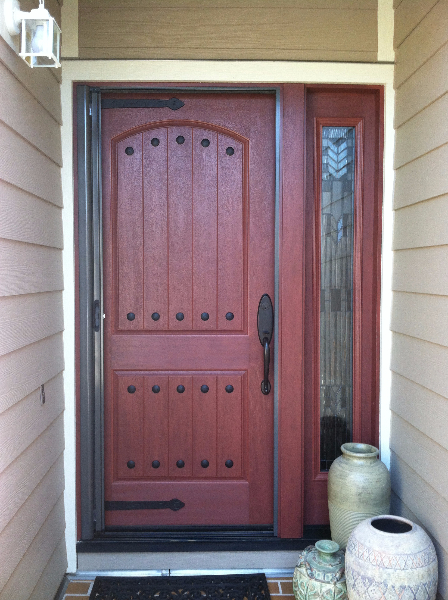 Extra Wide Bronze Roll Away Retractable Screen Door