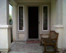CHAMPAGNE BEIGE TRU-VIEW SECURITY SCREEN DOOR