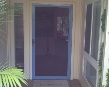 COUNTRY BLUE CUSTOM COLOR TRU-VIEW SECURITY SCREEN DOOR
