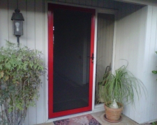 RUBY RED CUSTOM COLOR TRU-VIEW SECURITY SCREEN DOOR