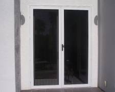 WHITE FRENCH TRU-VIEW SECURITY SCREEN DOORS
