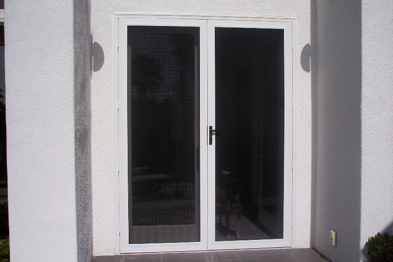 Security screen doors the screen lady inc for Security screen doors for french doors