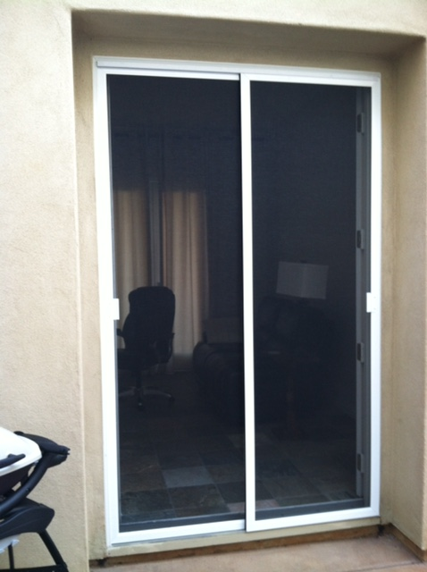 Sliding screen doors the screen lady inc tall white bypass sliding screen doors planetlyrics Gallery