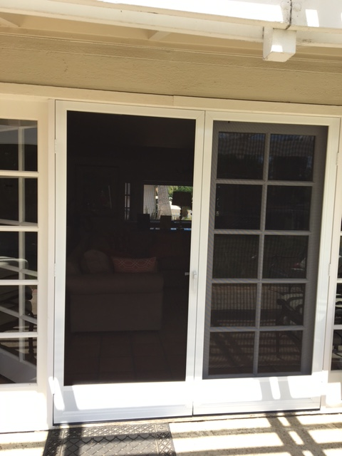 WHITE FRENCH CLEARVIEW SWINGING SCREEN DOORS & Swinging Screen Doors u2013 The Screen Lady Inc. pezcame.com