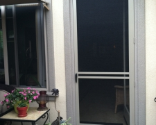 ADOBE CLEARVIEW SWINGING SCREEN DOOR WITH CUSTOM CROSS BARS