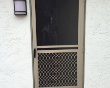 ADOBE SAFEGUARD SWINGING SCREEN DOOR