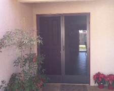 BRONZE DOUBLE CLEARVIEW SWINGING SCREEN DOORS