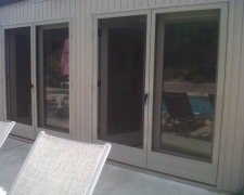 ADOBE FRENCH CLEARVIEW SWINGING SCREEN DOORS