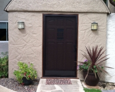 EXTRA WIDE BRONZE CLEARVIEW SWINGING SCREEN DOOR
