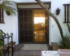 BRONZE FRENCH COLONADE SWINGING SCREEN DOORS