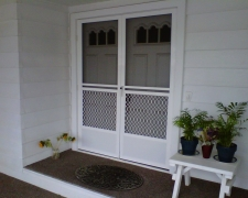 WHITE FRENCH SAFEGUARD SWINGING SCREEN DOORS