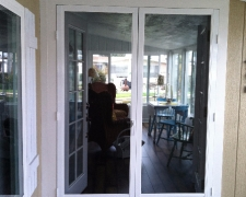 WHITE FRENCH CLEARVIEW SWINGING SCREEN DOORS WITH BETTERVUE SCREEN MESH