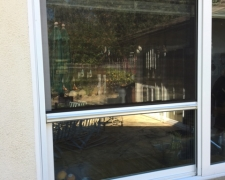 WHITE ROLL-AWAY RETRACTABLE WINDOW SCREEN SERIES 4000
