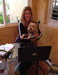 Kerry & her loyal assistant Charlie